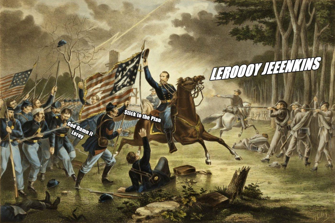 Leeroy Jenkins Does The Civil War Et Geekera