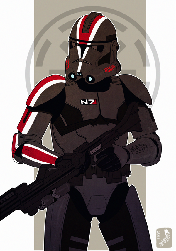 Mass Effect Meets Star Wars in an Epic Sci-Fi Mashup | et ... Halo Video Game Clipart