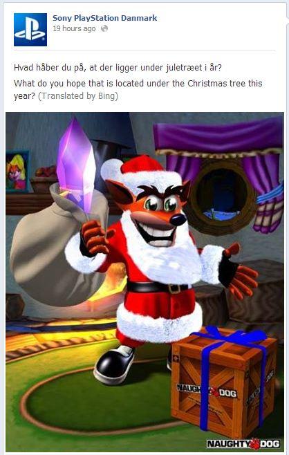 Crash Bandicoot Christmas.Sony Crash Bandicoot Teaser Et Geekera